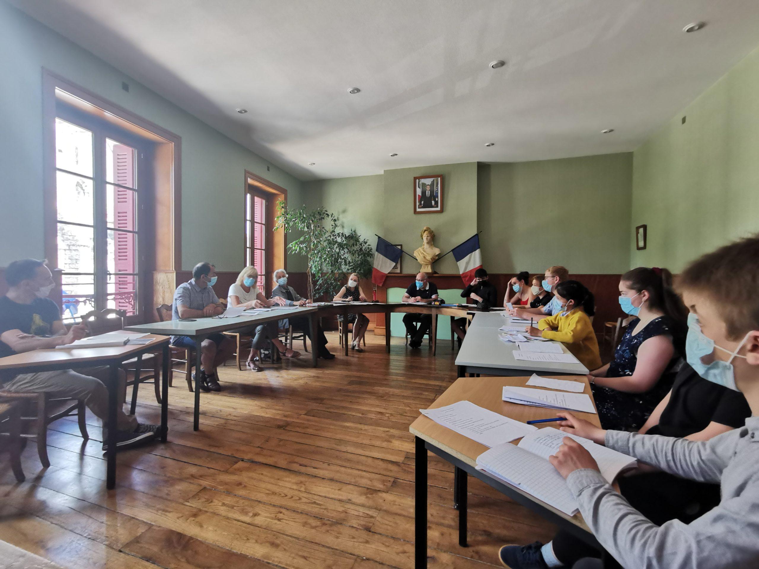 Premier conseil municipal des jeunes (CMJ) – Jeudi 10 juin